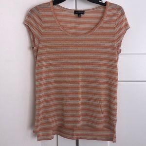 The Limited peach Gold stripe top